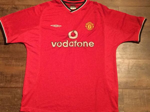 2000 2002 Manchester United Home Football Shirt Adults Large